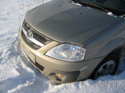 Лада Ларгус отлично себя показала в снегу