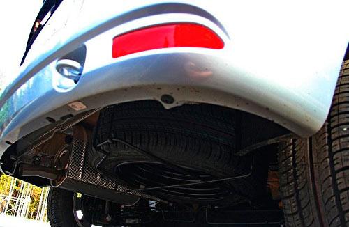 Расположение запасного колеса в автомобиле